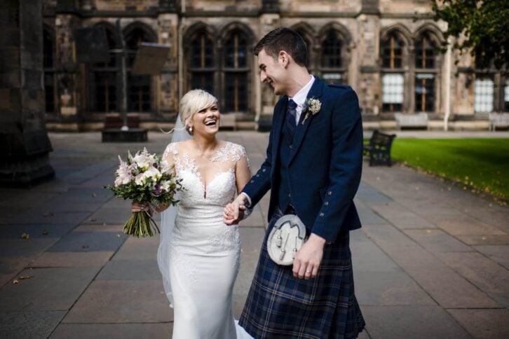 Glasgow uni wedding John Clark Photos
