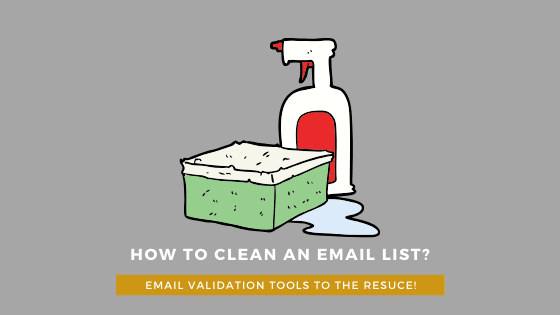 How to clean an email list with an email validation tools?