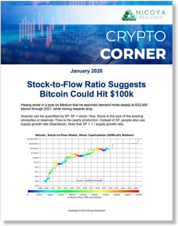 Crypto Corner is our cryptocurrency investment newsletter covering Bitcoin, Ethereum and a number of smaller-cap, more speculative cryptocurrencies. We also cover blockchain-related equities.