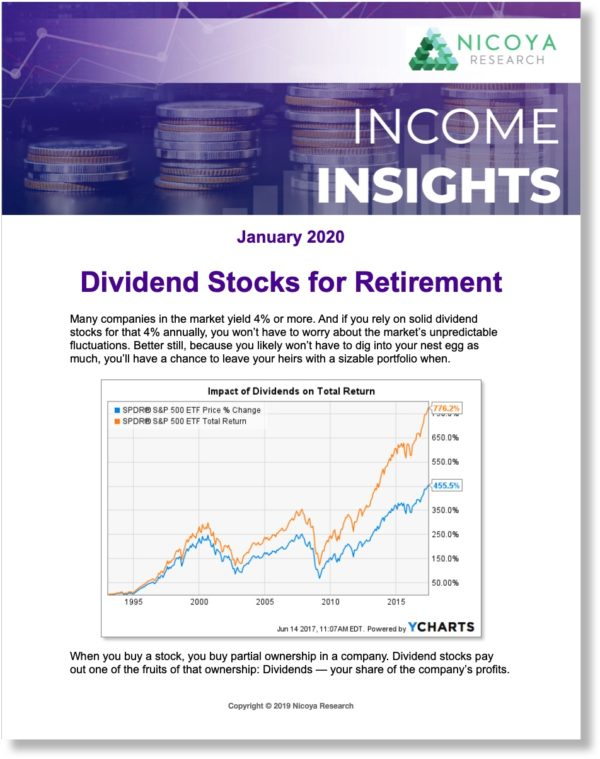 Income Insights focuses on stocks that pay regular dividends for those looking to generate income from their investments or take advantage of dividend reinvestment programs (DRIP).