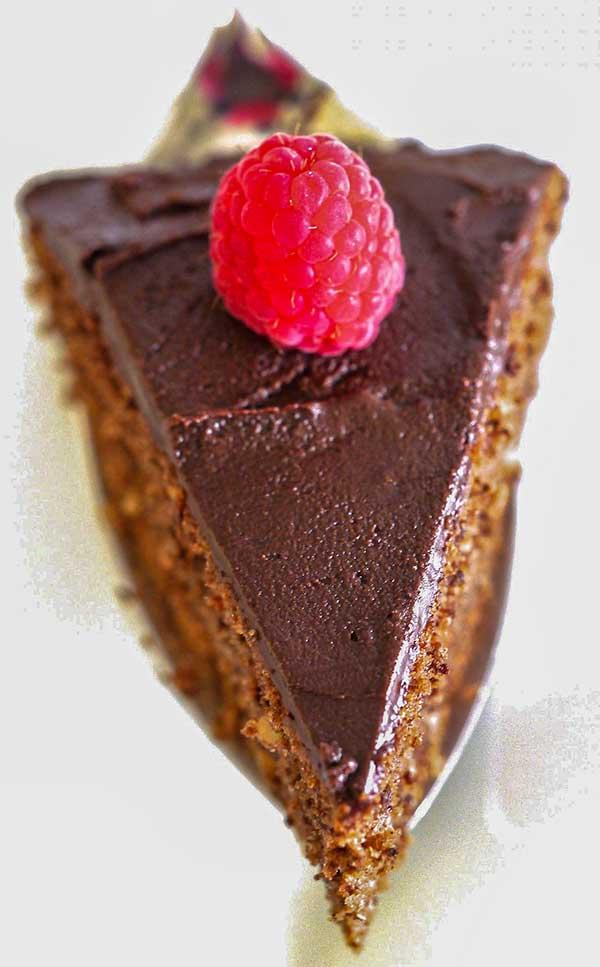 Gluten-Free Mocha Walnut Cake