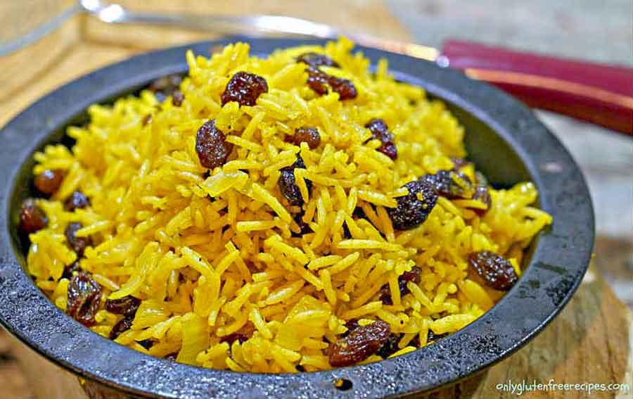 Gluten-Free 5-Spice Rice With Raisins