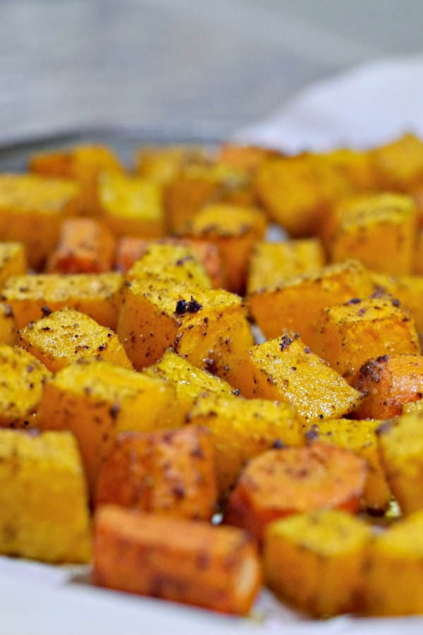 Roasted Spiced Squash With Carrots