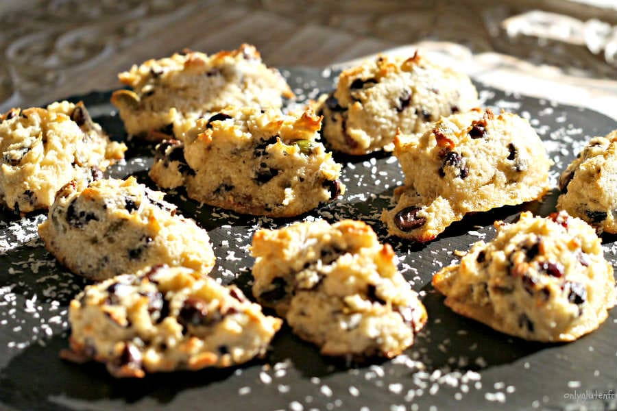 Coconut Chocolate and Fruit Macaroons