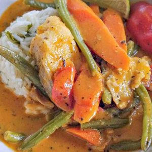 One Pot Fish In Red Curry Sauce