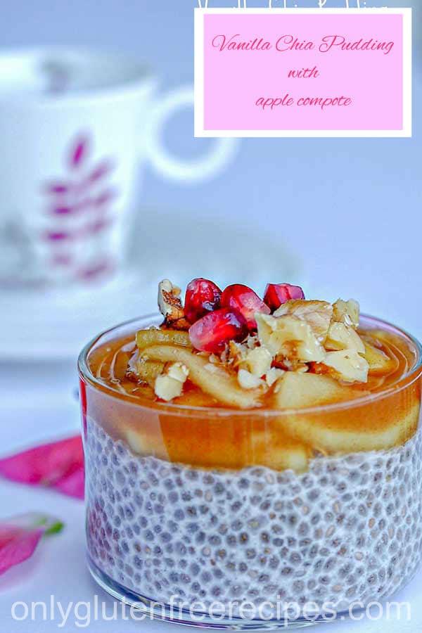 Vanilla Chia Pudding With Apple Compote