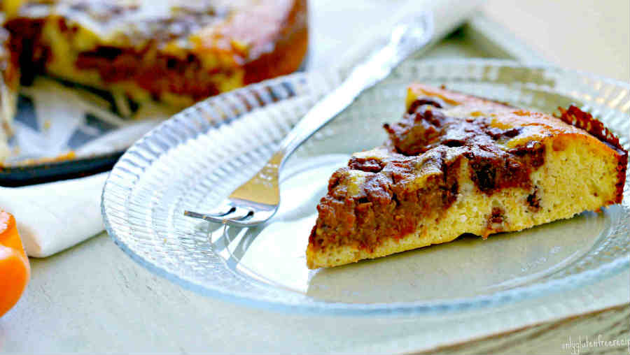 Paleo Apricot Chocolate Swirl Cake