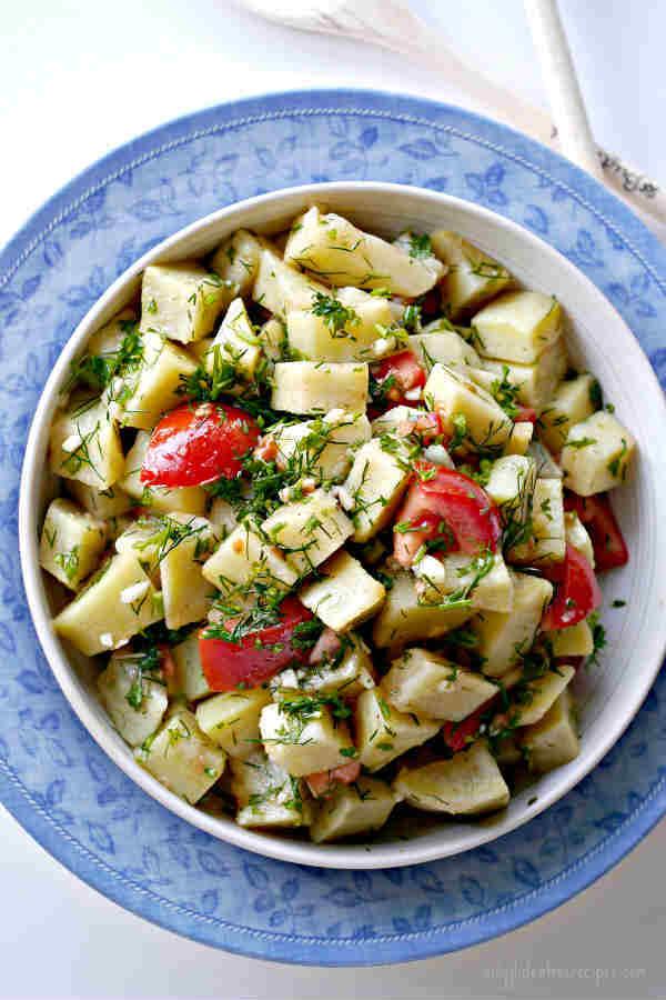 Sweet Potato Salad With Herb Vinaigrette