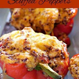 Cheesy Chicken Stuffed Peppers (Gluten-Free)