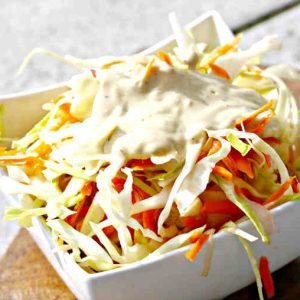 Cabbage Salad with Honey Mustard Dressing