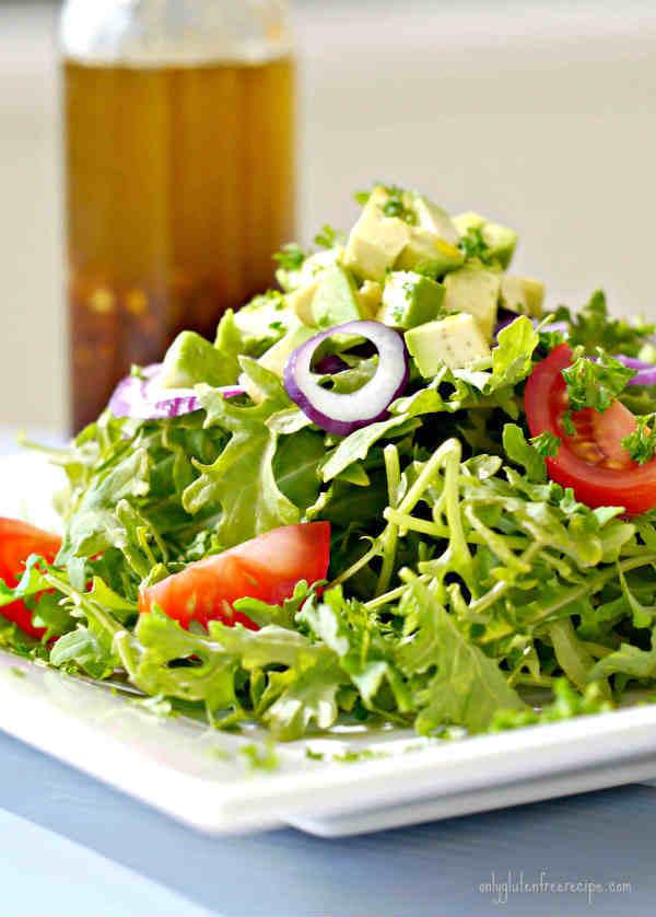 Kale Salad with Ginger Salad Dressing