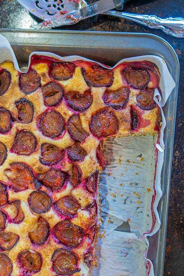 Grain-Free Summer Plum Cake