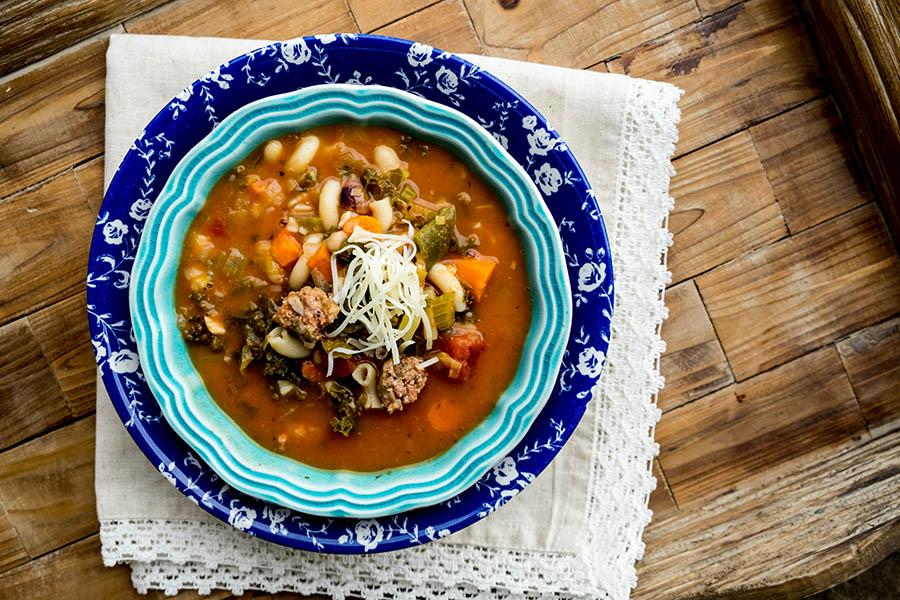 Gluten Free Minestrone Soup with Chorizo