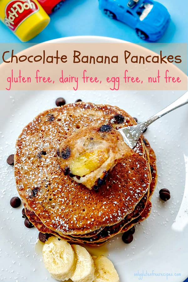 Gluten-Free Chocolate Banana Pancakes