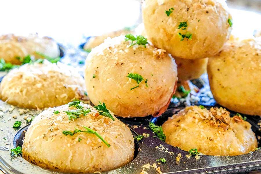 Gluten Free Cheesy Garlic Rolls
