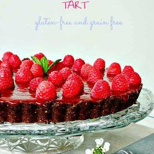 Gluten Free No Bake Raspberry Chocolate Tart