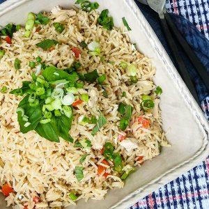 One Pot Thai Coconut Chicken Rice