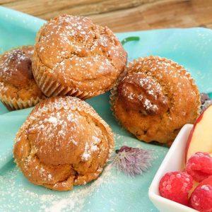 Quick and Easy Gluten Free Apple Cinnamon Muffins