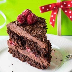 Gluten Free Vegan Chocolate Cake with Ganache Frosting
