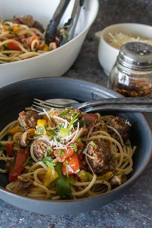 Sheet Pan Spaghetti and Meatballs – Gluten Free