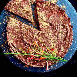 Gluten-Free No Bake Chocolate Pumpkin Pie