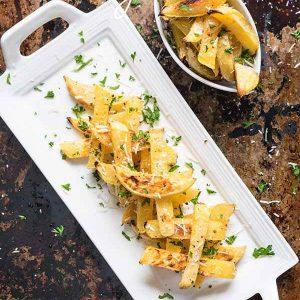 Simple Baked Rutabaga Fries