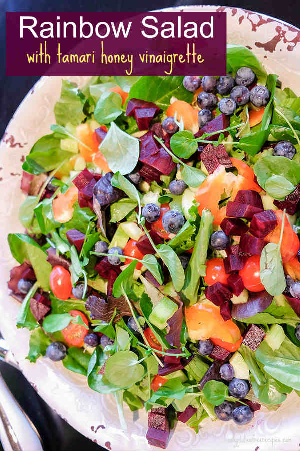 Rainbow Salad with Tamari Honey Vinaigrette