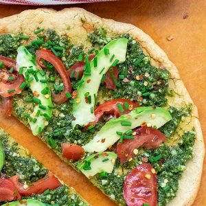 Outrageously Easy Quinoa Pizza Crust