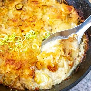 Cheesy Leek Potato Gratin