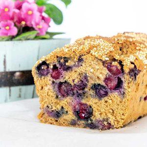 Easy Gluten-Free Quinoa Blueberry Bread