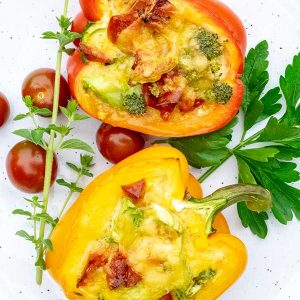 Stuffed Breakfast Peppers – Low Carb