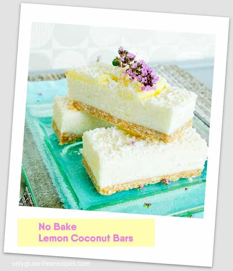 No Bake Lemon Coconut Bars (vegan, gluten-free)