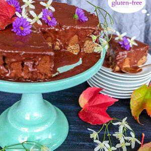 Gluten-Free Chocolate Pumpkin Cake with Ganache