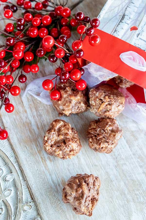 4 Ingredient No Bake Chocolate Marshmallow Balls