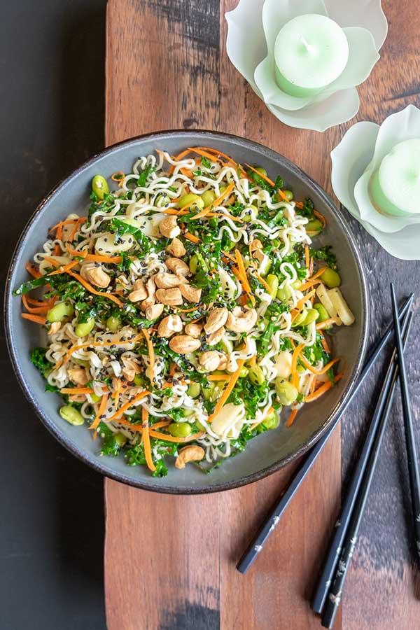 Vegan Ramen Salad With Sesame Ginger Dressing {Gluten-Free}