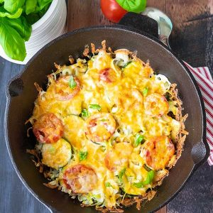 Zucchini  Gratin with Bacon and Leeks – Keto