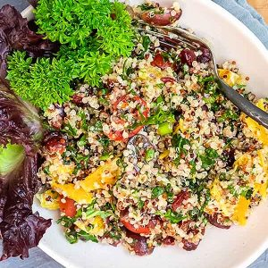 Quinoa Power Salad With Orange Vinaigrette