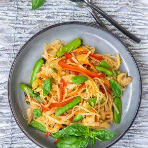 Gluten-Free Saucy Thai Noodles
