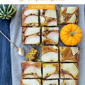 Upside Down Apple-Honey Pumpkin Cake (Gluten-Free)