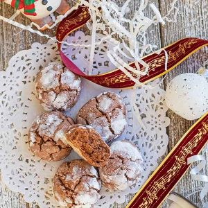 Gluten-Free Chocolate Crinkle Cookie Recipe