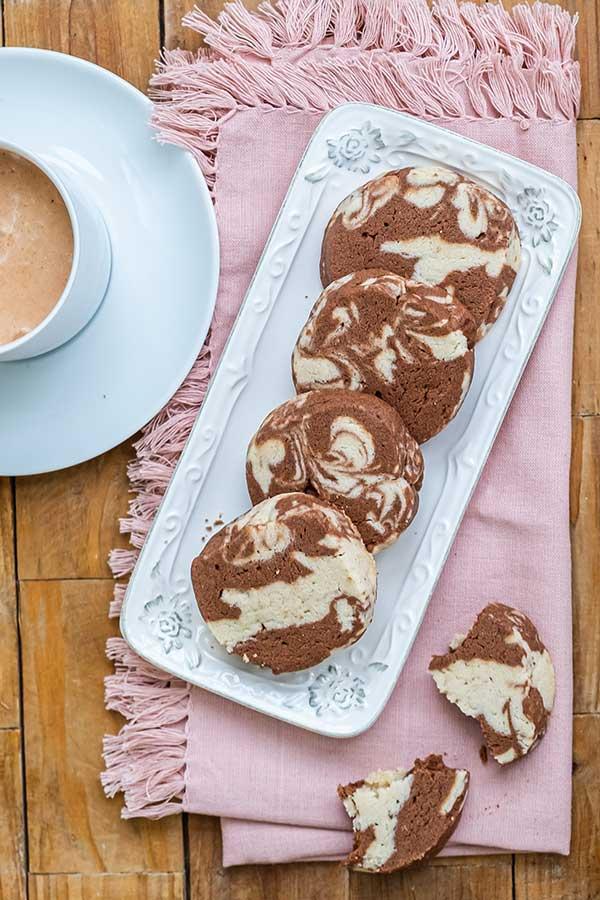 Gluten-Free Chocolate Swirl Shortbread Cookies