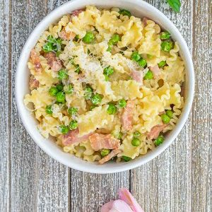 Gluten-Free Ham and Peas Pasta
