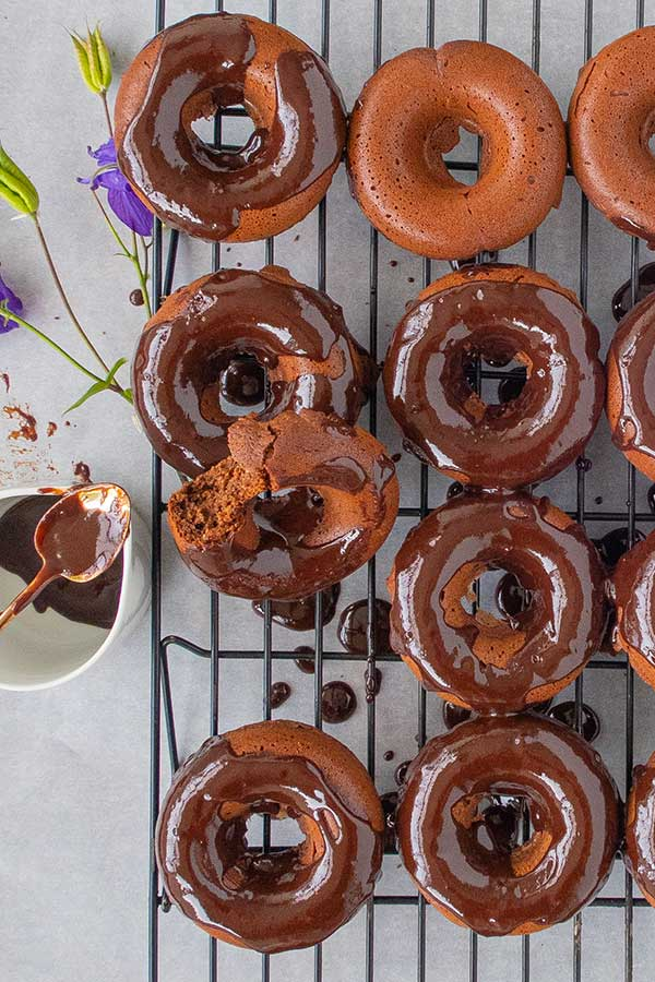 Gluten-Free Baked Chocolate Donuts
