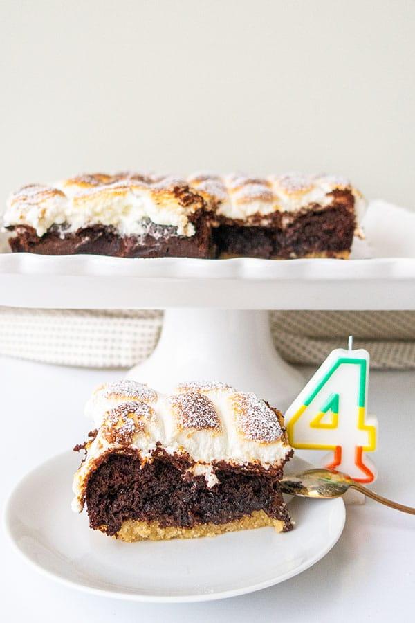 Gluten-Free S'More Chocolate Cake