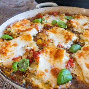 Gluten-Free Skillet Cheese Lasagna Roll Ups