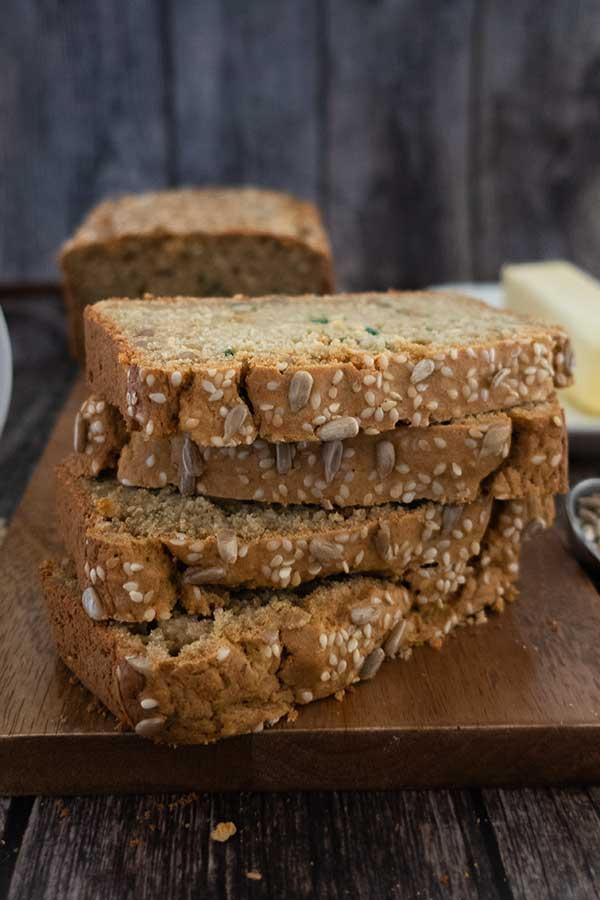 Gluten-Free Multi-Seed Oat Flour Bread
