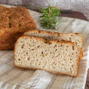 Gluten-Free White Bean with Rosemary Bread