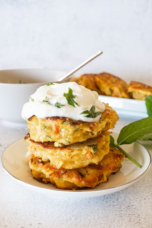 Salmon Burgers with Water Chestnuts (keto)