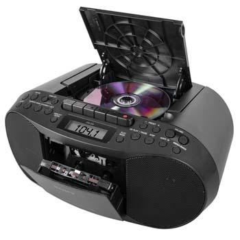 10. Sony CFDS70-BLK CD/MP3 Cassette Boombox