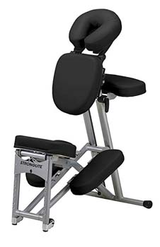 10. Stronglite Ergo Pro Portable Massage Chair, Black, Aluminum